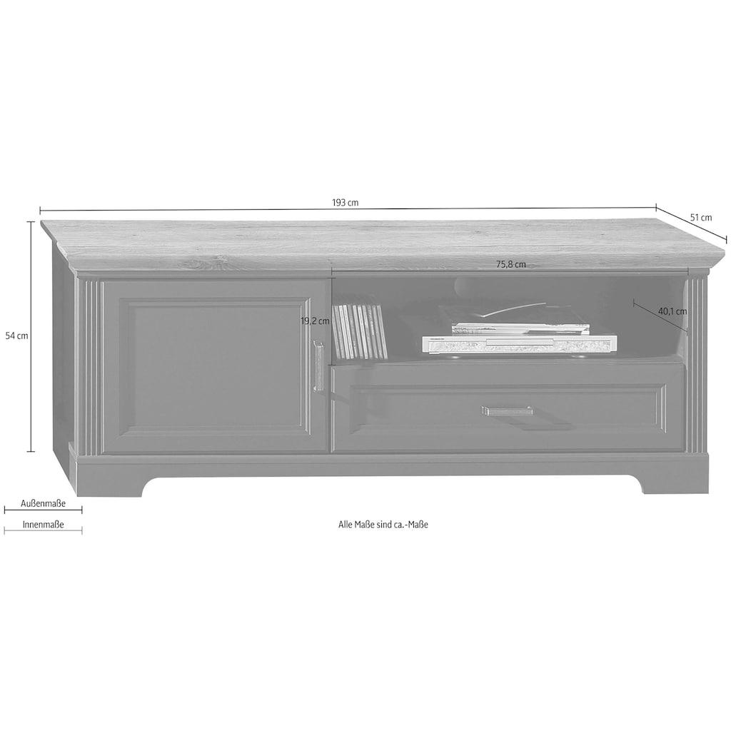 Innostyle Lowboard »Jasmin«, Breite 143 cm, 1 Holztür, 1 Schubkasten, 1 offenes Fach