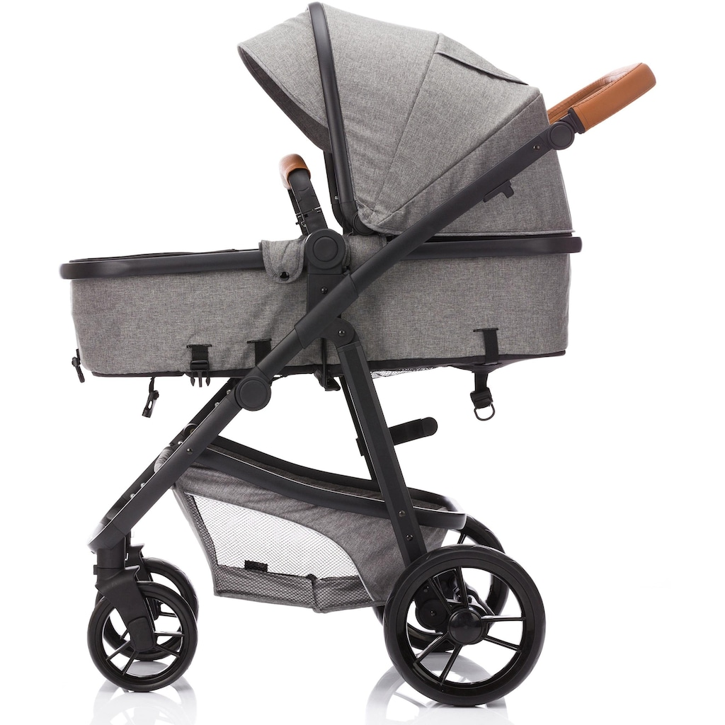 Fillikid Kombi-Kinderwagen »Panther, hellgrau«, 22 kg, mit Babyschale; Kinderwagen