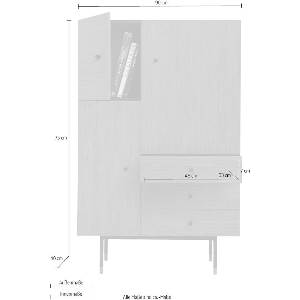 Woodman Highboard »Daniel«, Breite 90 cm