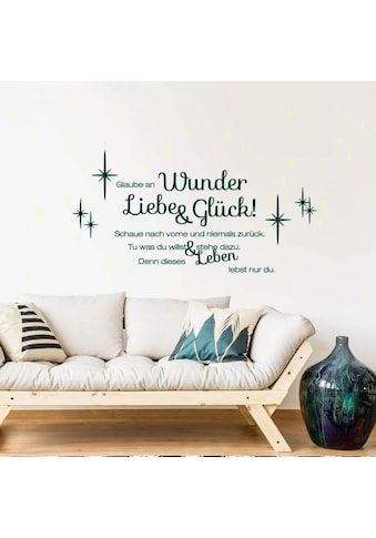 Wall - Art Wandtattoo »Liebe und Glück Leuchtbild« (1 Stück) kaufen
