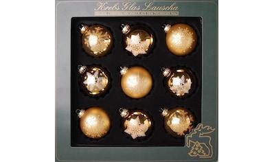 Krebs Glas Lauscha Weihnachtsbaumkugel, (Set, 9 St.), mundgeblasen, mit Dekor kaufen