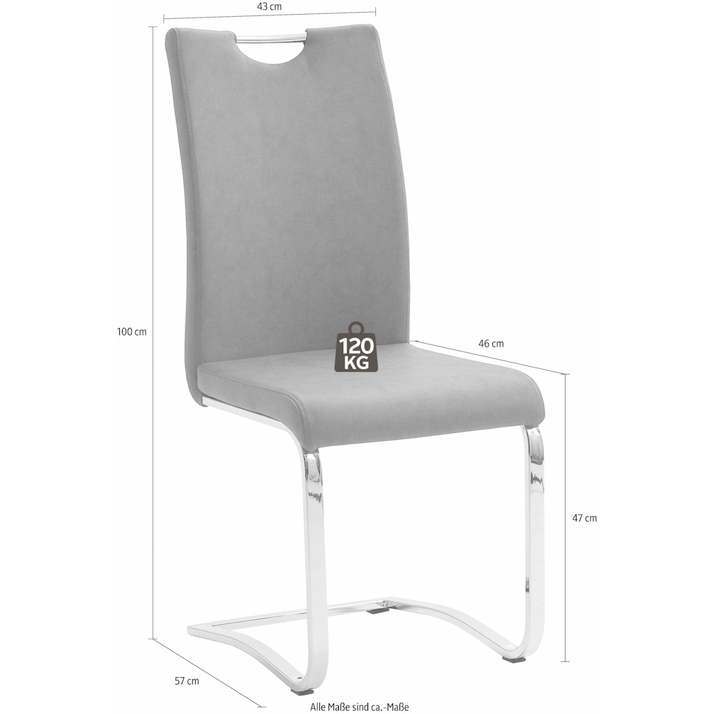 MCA furniture Esszimmerstuhl »Tia Schwingstuhl«, Stuhl belastbar bis max. 120 kg