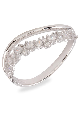 VILMAS Silberring »Sparkle Two-Lane Wave, 4028146651340, 57, 64«, mit Zirkonia kaufen