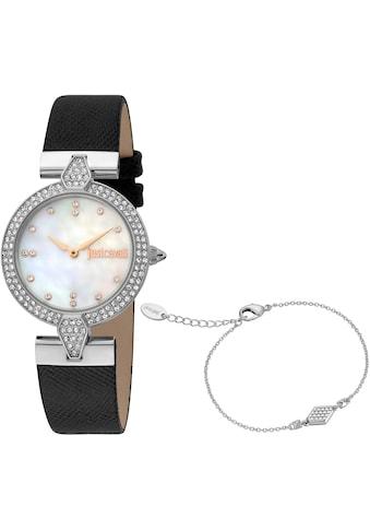 Just Cavalli Time Quarzuhr »Nobile, JC1L159L0015«, (Set, 2 tlg., 2teiliges Set - Uhr... kaufen