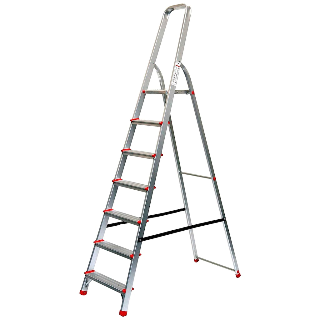 SZ METALL Stehleiter, Aluminium, 3,53 m, 7-stufig