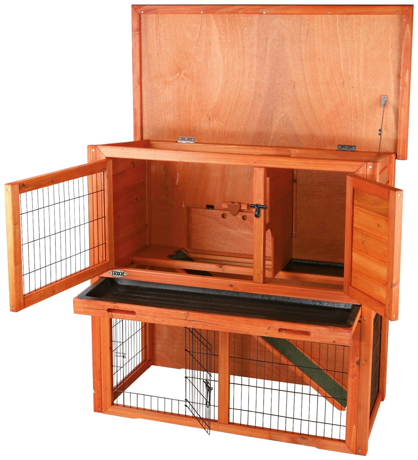 trixie kleintierstall bxtxh 104x52x97 cm mit freilaufgehege zweist ckig auf rechnung baur. Black Bedroom Furniture Sets. Home Design Ideas