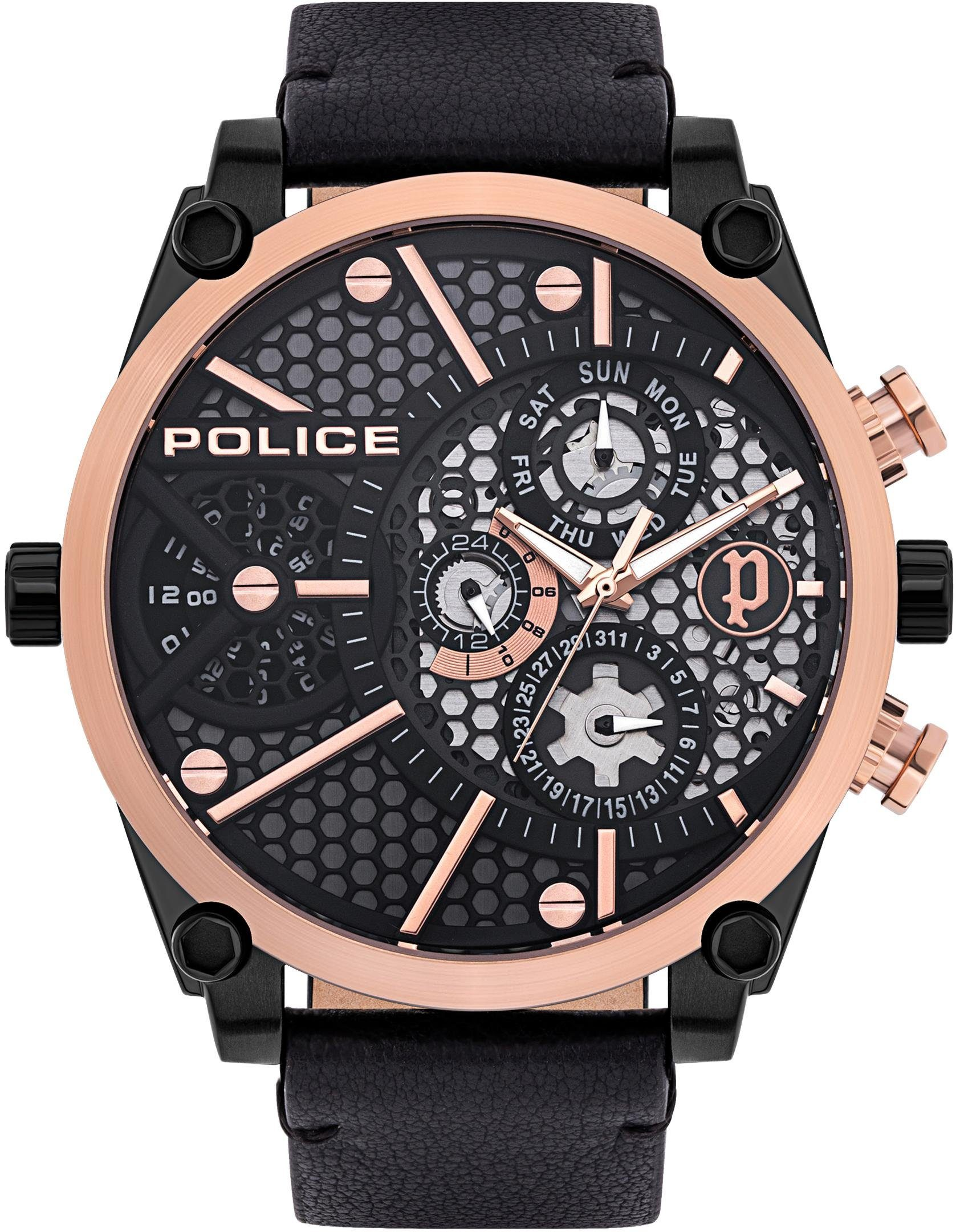 Police Quarzuhr VIGOR PL15381JSBR61   Uhren > Quarzuhren   Schwarz   Police