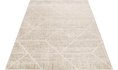 Wecon home Teppich »Bossa Lounge«, rechteckig, 10 mm Höhe, 3D-Optik, Kurzflor, Wohnzimmer kaufen