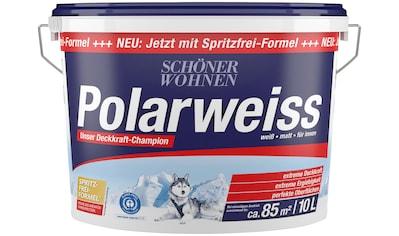 SCHÖNER WOHNEN-Kollektion Wand- und Deckenfarbe »Polarweiss«, starke Deckkraft kaufen