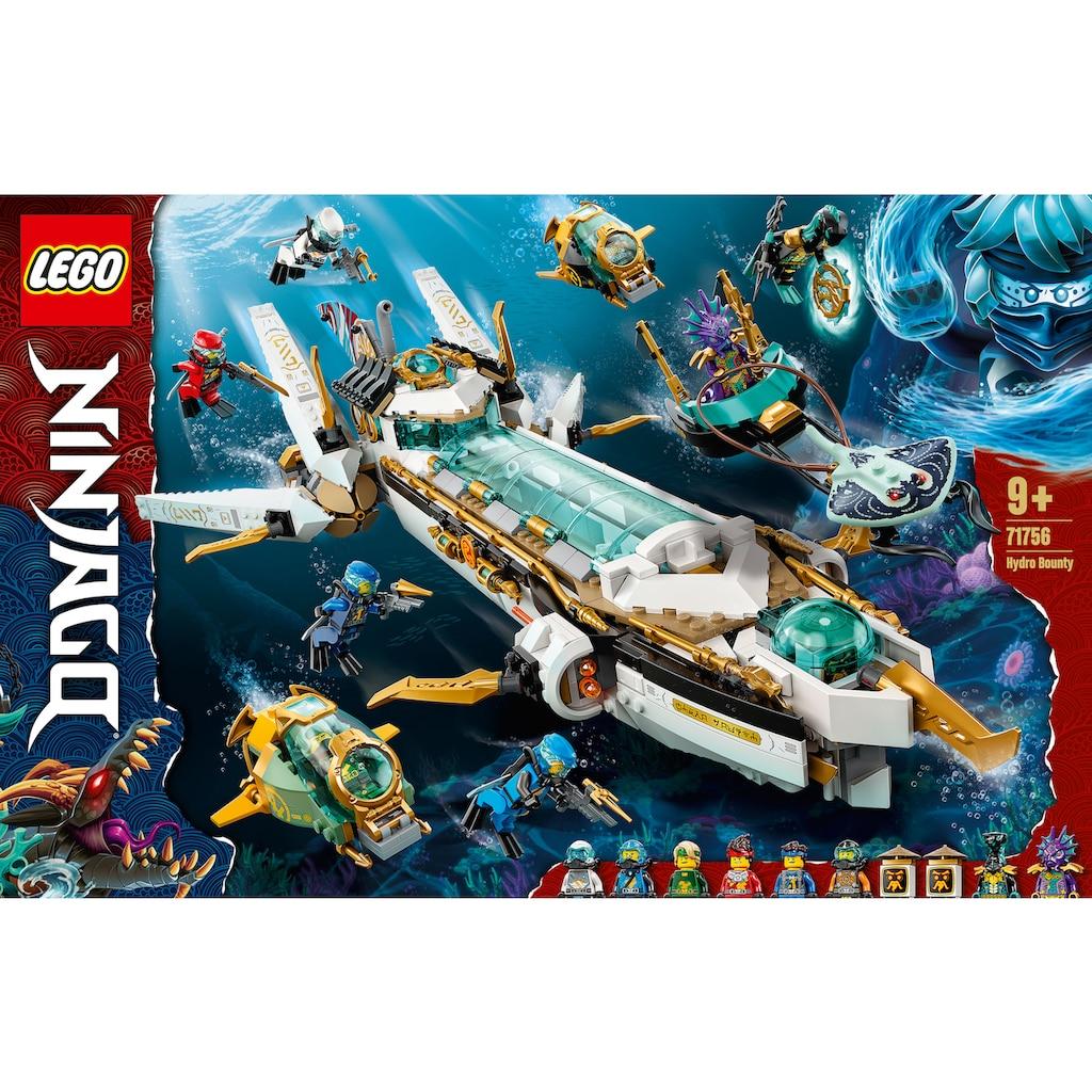 LEGO® Konstruktionsspielsteine »Wassersegler (71756), LEGO® NINJAGO®«, (1159 St.), Made in Europe