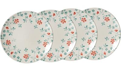 Ritzenhoff & Breker Speiseteller »Julia«, (Set, 4 St., 4 Speiseteller, je 26,5 cm Durchmesser), mit Floral-Dekor, Ø 26,5 cm kaufen