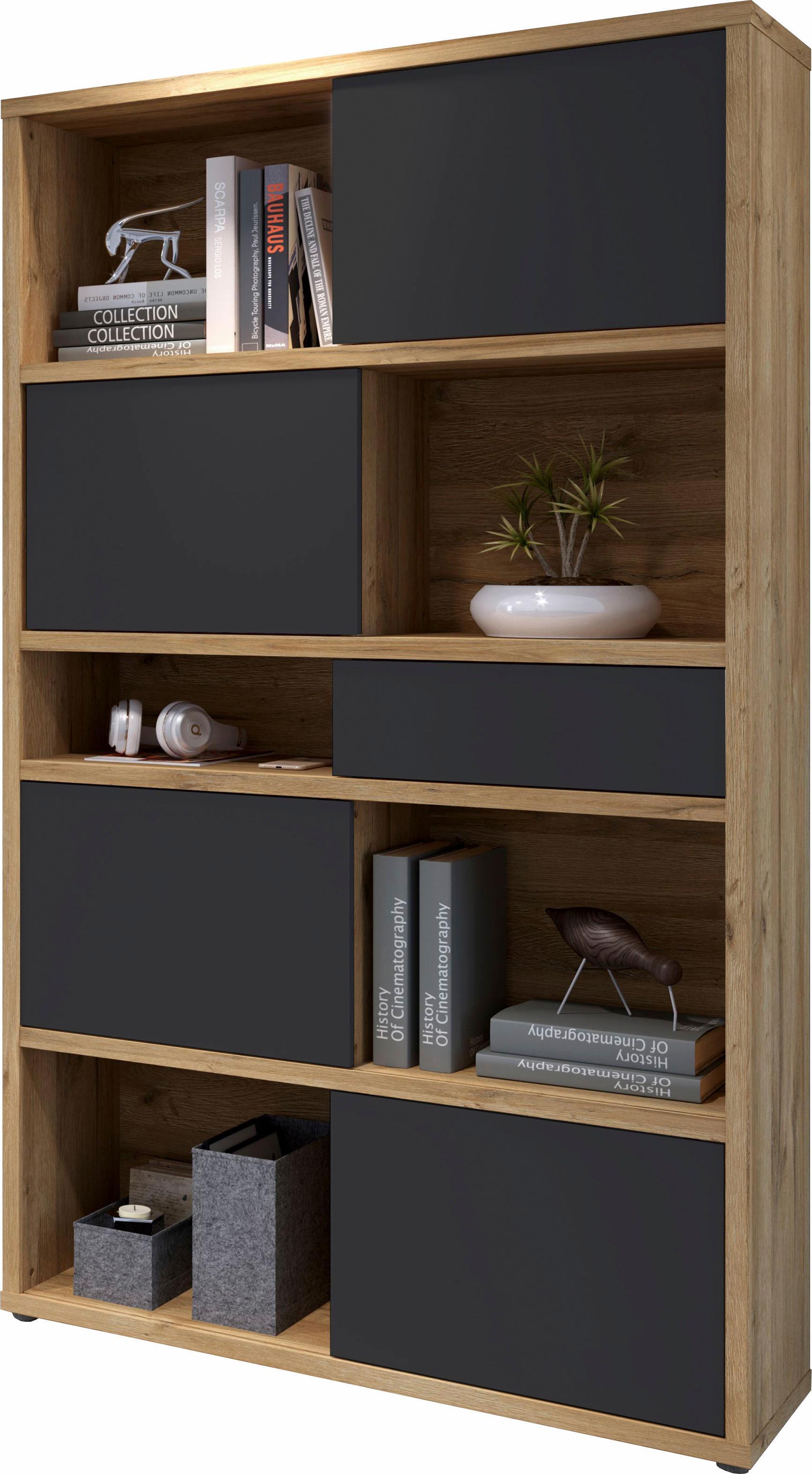 regal slide mit r ckwand und schiebefronten bestellen baur. Black Bedroom Furniture Sets. Home Design Ideas