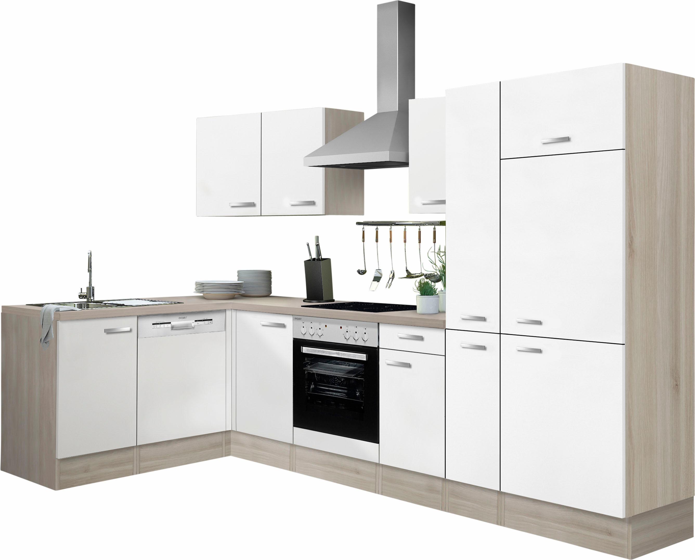 Optifit Winkelküche ohne E-Geräte »Faro«, Breite 300 x 175 cm | Küche und Esszimmer > Küchen > Winkelküchen | Weiß | Edelstahl | OPTIFIT