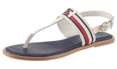 TOMMY HILFIGER Riemchensandale »CORPORATE LEATHER FLAT SANDAL« kaufen