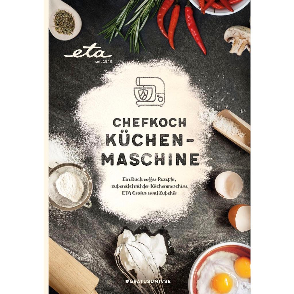 eta Küchenmaschine »Gratus Storio rot ETA002890063«, 1200 W, 5,5 l Schüssel, 5,5 l Edelstahlschüssel, PULSE-Funktion