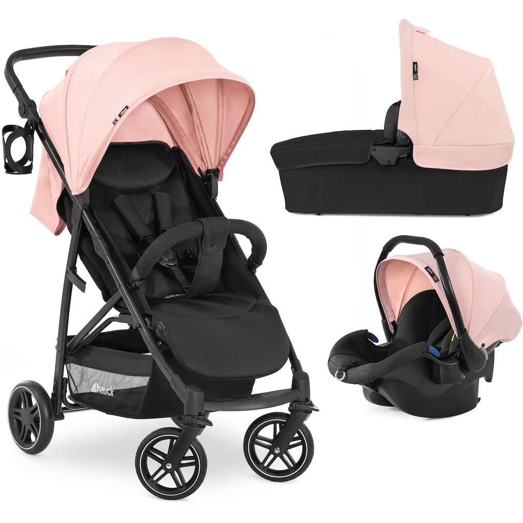 Hauck Kombi-Kinderwagen »Rapid 4R Plus Trioset«, 22 kg, inkl. Babywanne und Babyschale; Kinderwagen