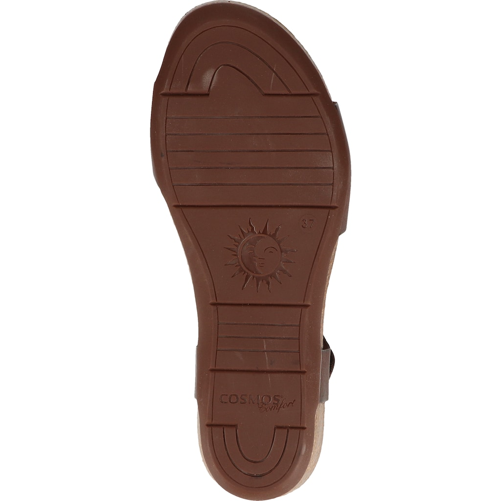 COSMOS Comfort Keilsandalette »Leder«