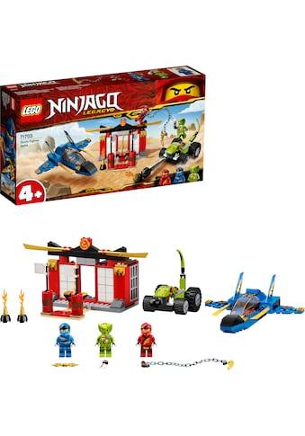 LEGO® Konstruktionsspielsteine »Kräftemessen mit dem Donner-Jet (71703), LEGO® NINJAGO®«, (165 St.), Made in Europe kaufen