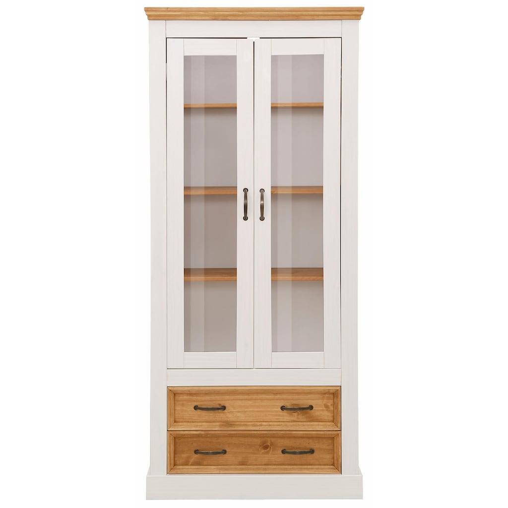 Home affaire Vitrine »Selma«, Höhe 180 cm, mit schöner Holzmaserung