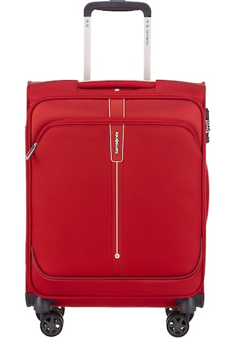 Samsonite Weichgepäck-Trolley »Popsoda, 55 cm, red«, 4 Rollen kaufen