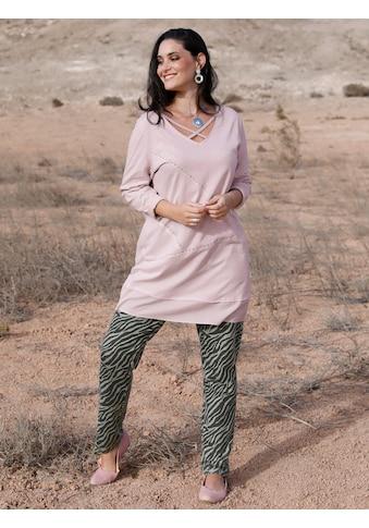MIAMODA Longshirt, mit Bändern am Ausschnitt kaufen