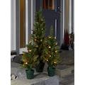 KONSTSMIDE Weihnachtsfigur, LED Weihnachtsbaum mit Tannenzapfen und Topf