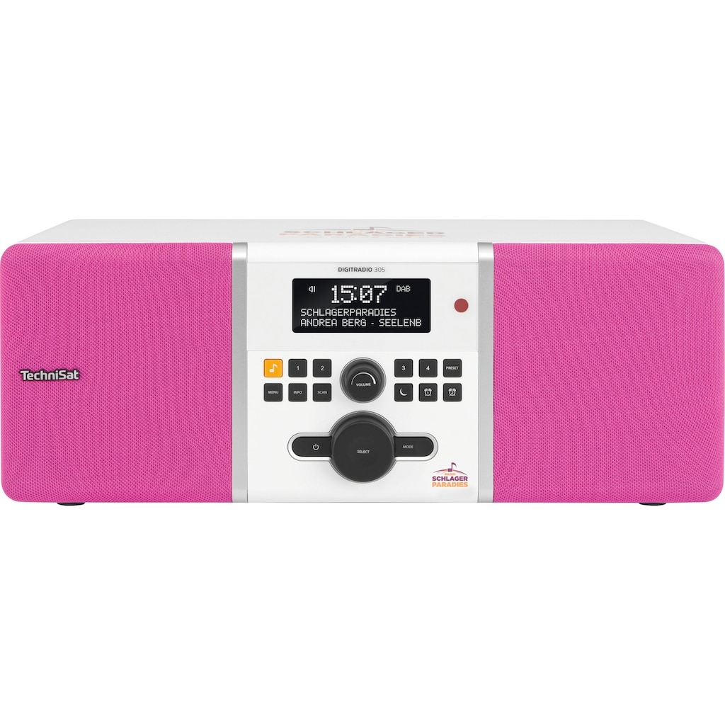 TechniSat Digitalradio (DAB+) »DIGITRADIO 305 Stereo«, ( Digitalradio (DAB+)-UKW mit RDS ), Schlagerparadies-Edition