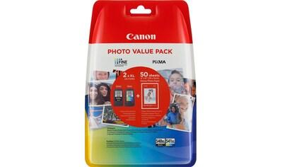 Canon Tintenpatrone »PG-540XL/CL-541XL + Foto Papier«, (Set) kaufen