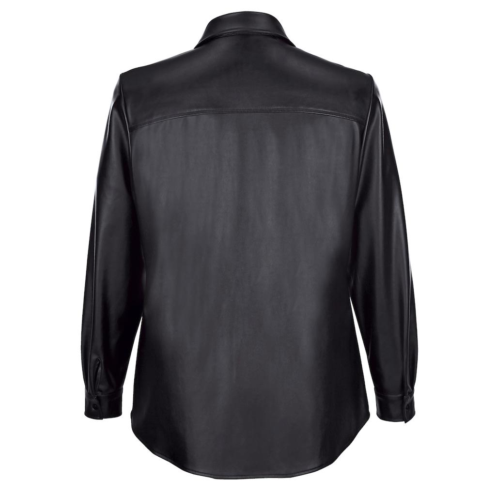 MIAMODA Blusenjacke, aus weichem Lederimitat