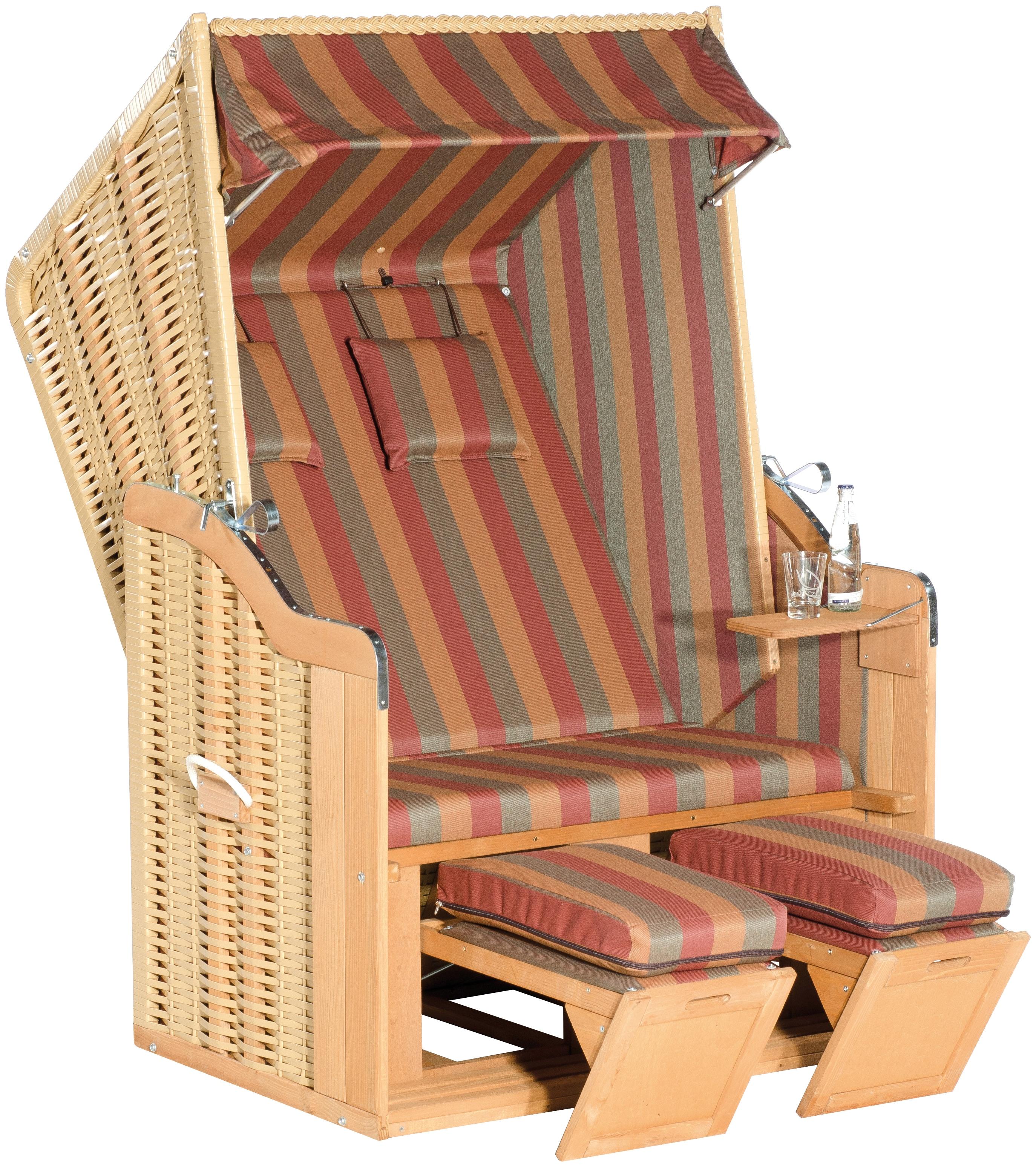 SunnySmart Strandkorb Rustikal 50 Plus 1199 beige Strandkörbe Garten, Terrasse Balkon