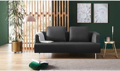 hülsta sofa 3-Sitzer »hs.440«, wahlweise in Stoff oder Leder, Spangenfüße glanzchrom kaufen