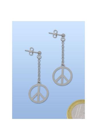 Adelia´s Kettenanhänger »Ohrschmuck Peace Frieden 925 Silber« kaufen