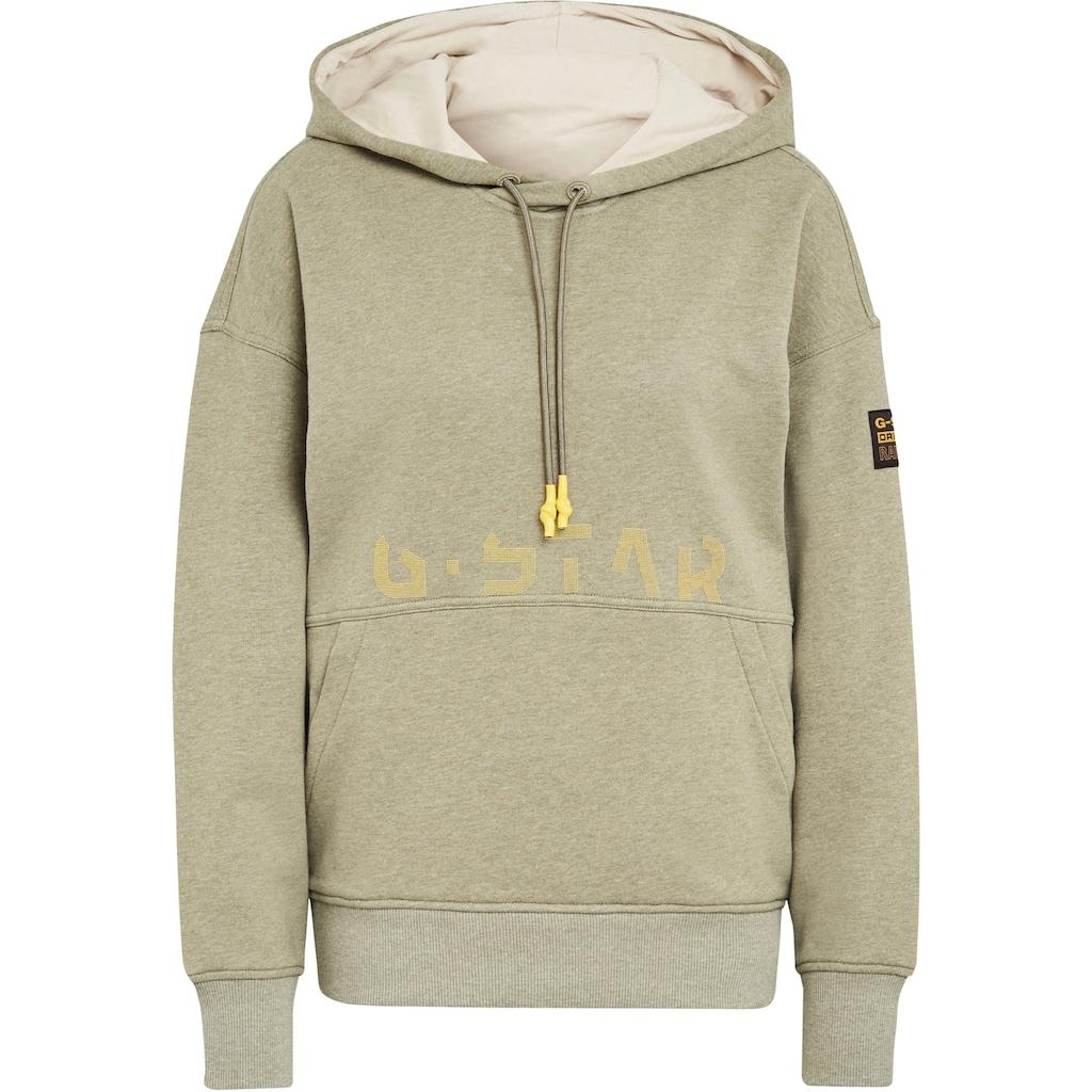 G-Star RAW Kapuzensweatshirt »Sweatshirt faded back graphic hoodie«, mit großer Kapuze und Kordelzug