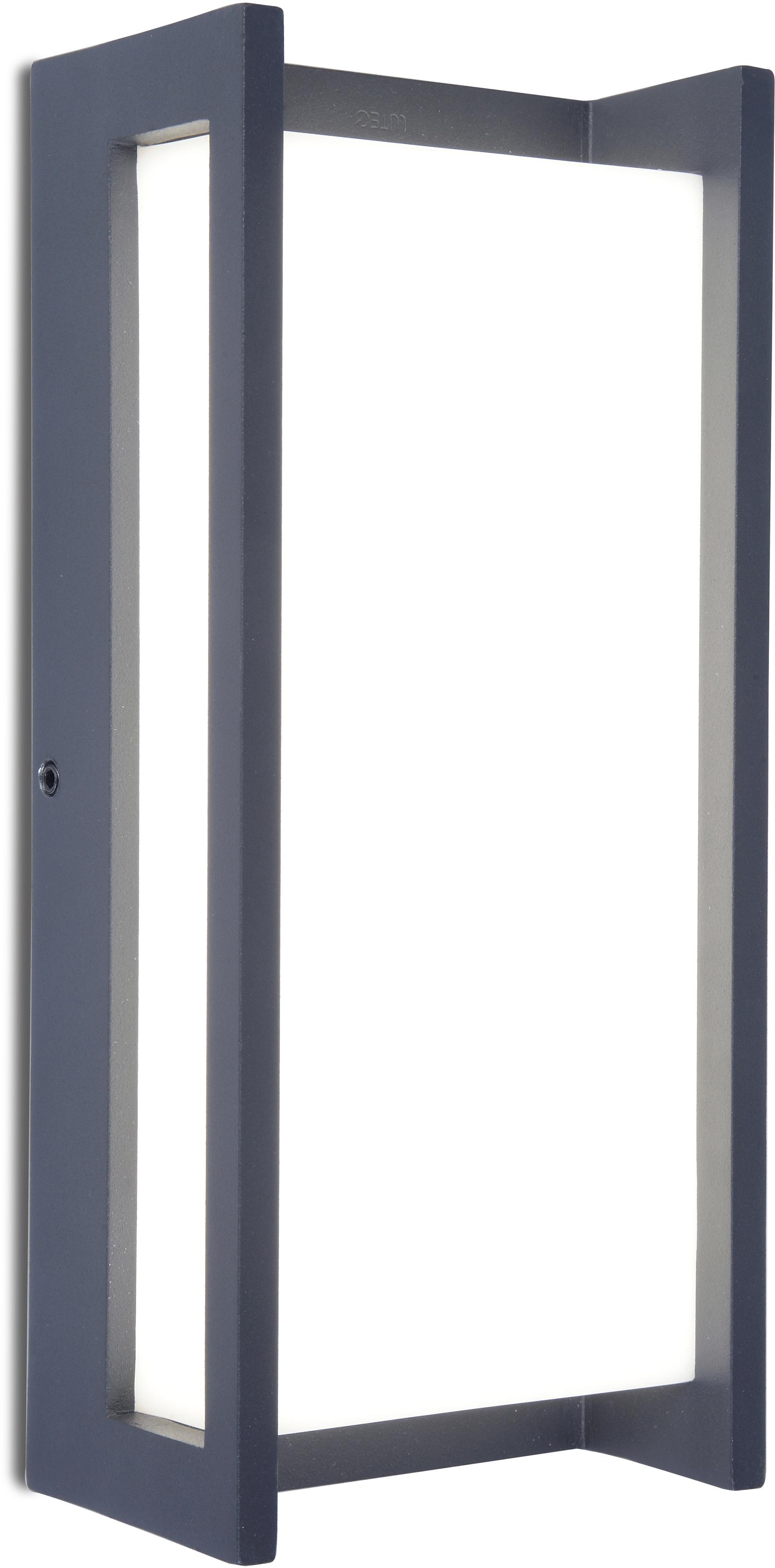 LUTEC LED Außen-Wandleuchte Qubo 5193001118, LED-Modul, 1 St., Warmweiß