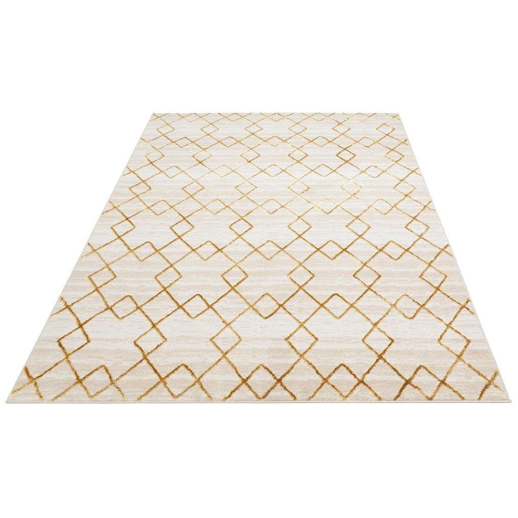 DELAVITA Teppich »Mizuna«, rechteckig, 11 mm Höhe, Glanz-Optik, Wohnzimmer