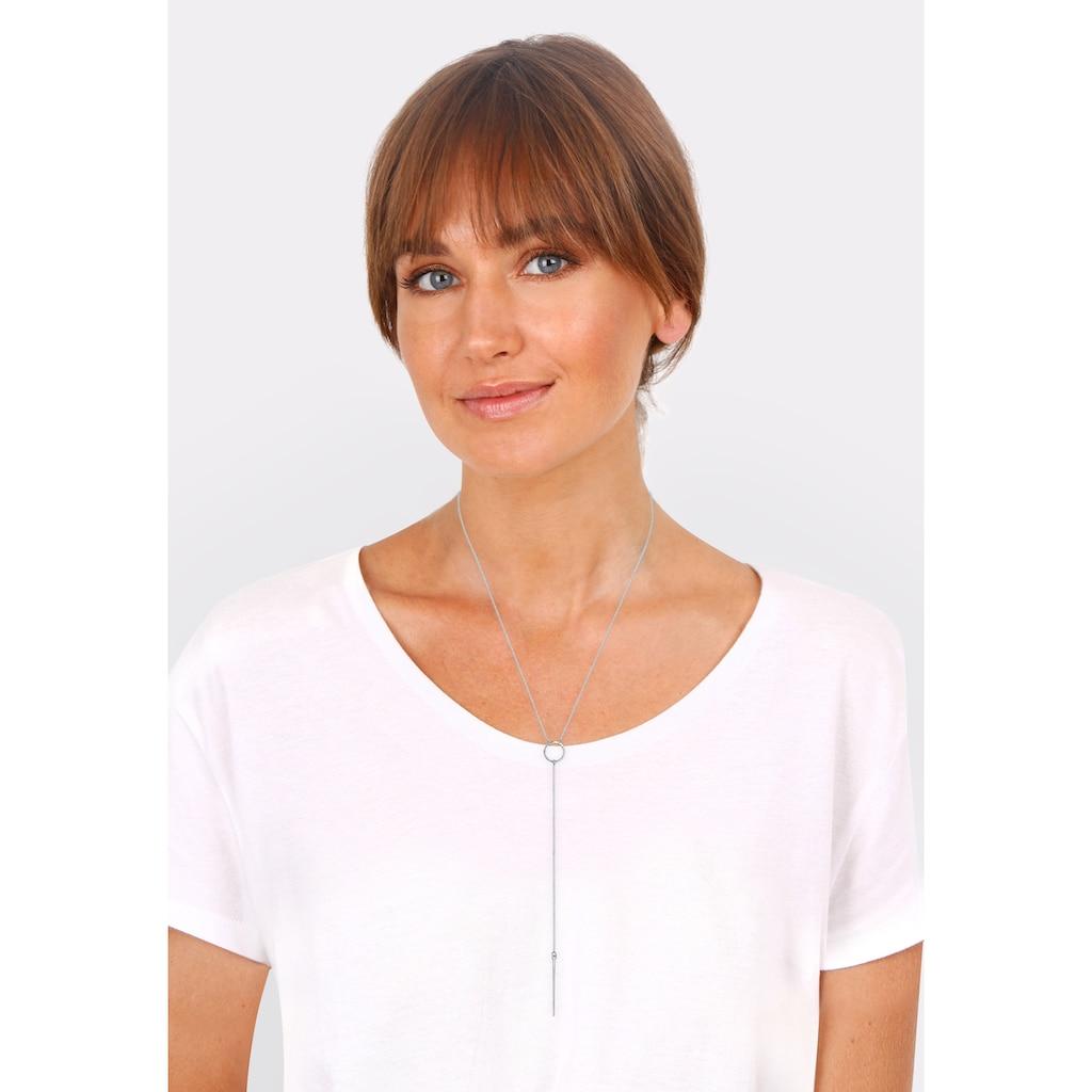 Elli Collierkettchen »Y-Kette Trend Minimal 925 Silber«