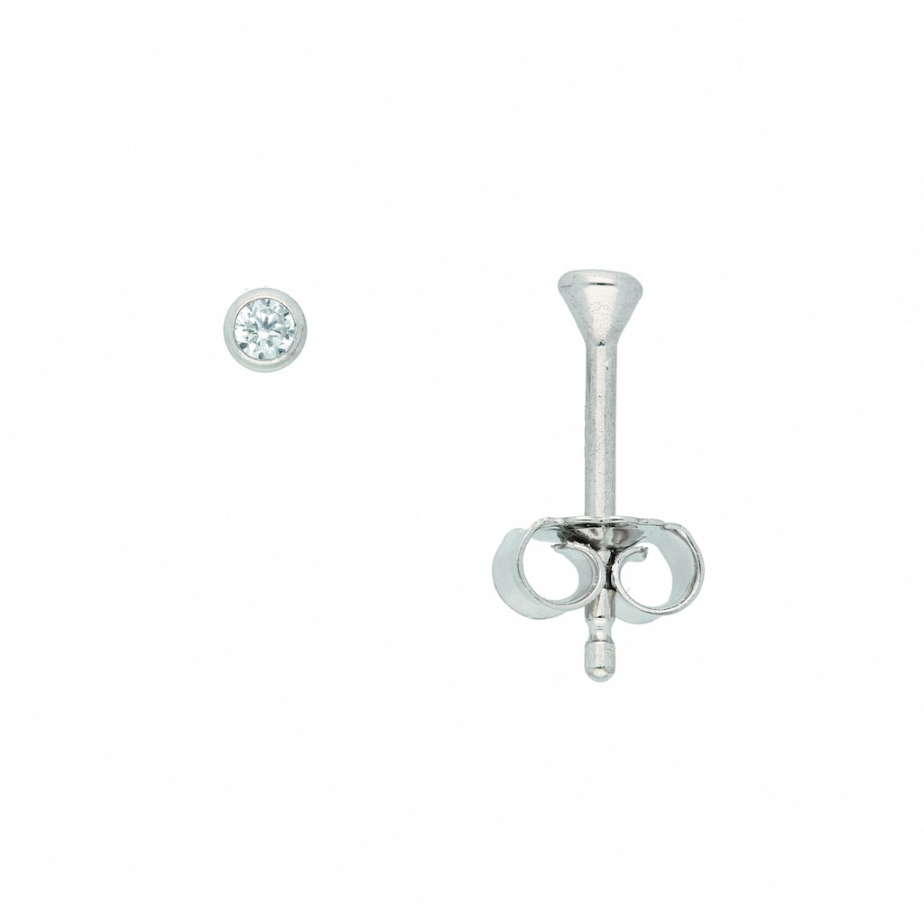 Adelia´s Paar Ohrhänger »585 Weißgold Ohrringe / Ohrstecker mit Zirkonia Ø 2,5 mm«, 585 Gold Goldschmuck für Damen