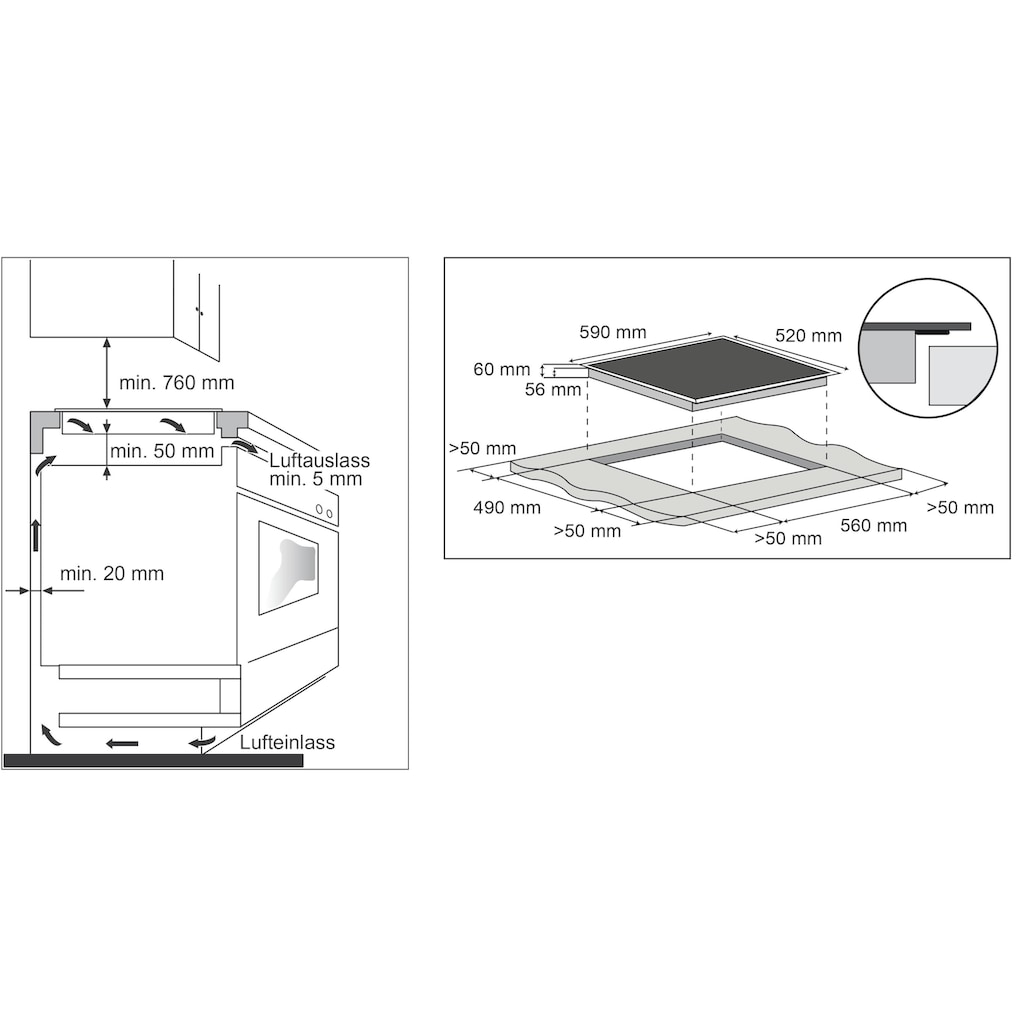 Hanseatic Induktions-Kochfeld von SCHOTT CERAN®, MC-IF7021B2-A, mit Timer