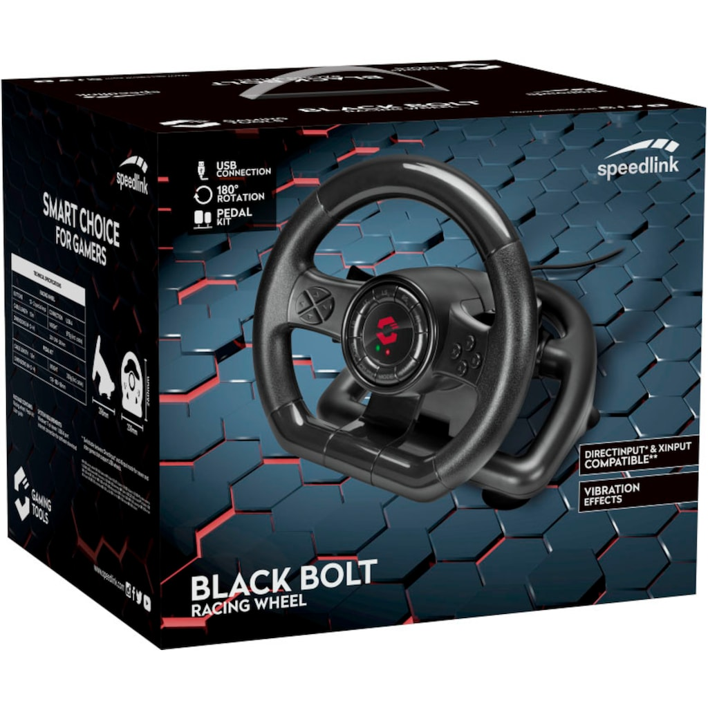 Speedlink PC-Lenkrad »BLACK BOLT«