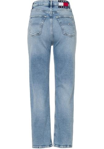 Tommy Jeans Straight-Jeans »Julie UHR STGHT AE611 LBC«, mit Used-Effekt am Saum &... kaufen