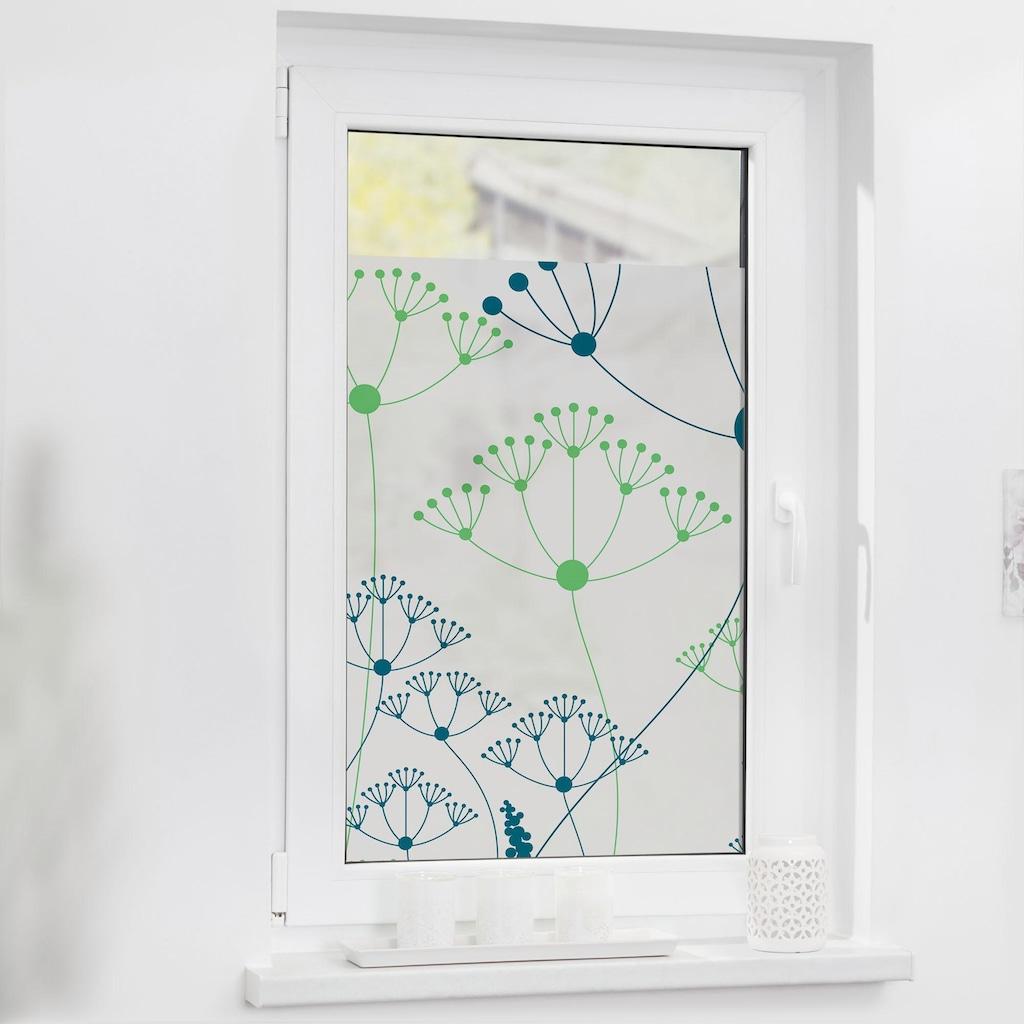 LICHTBLICK ORIGINAL Fensterfolie »Wiese«, 1 St., blickdicht, strukturiertKlebepunkte, selbstklebend, Sichtschutz