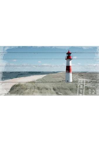 queence Holzbild »Leuchtturm in Dünen«, 40x80 cm kaufen