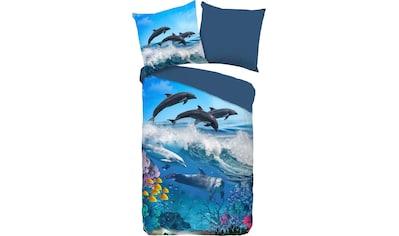good morning Kinderbettwäsche »Andre«, mit Delphinen kaufen