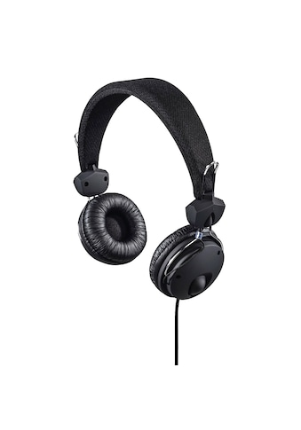"Hama Kopfhörer ""Fun4Phone"", On - Ear, Mikrofon, Schwarz »Einseitige Kabelführung« kaufen"