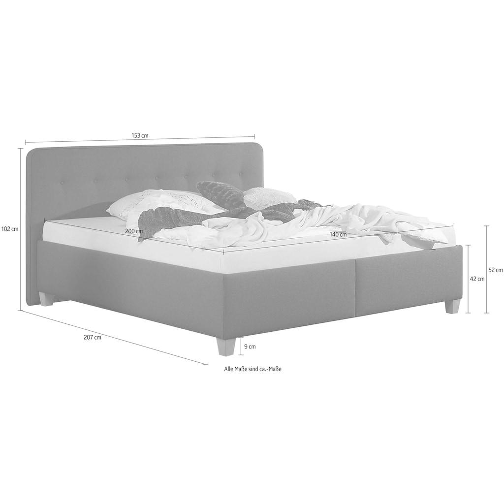 Maintal Polsterbett »Figaro«, mit oder ohne Matratze in 2 Ausführungen, Härtegrad 2 oder 3
