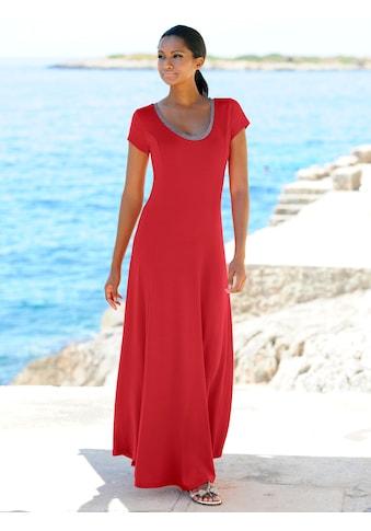 Alba Moda Strandkleid mit Silberlurex abgesetzt kaufen