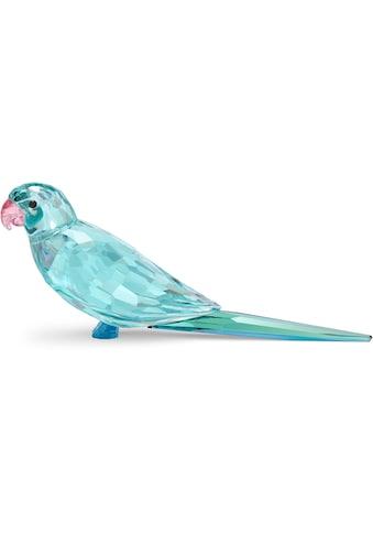 Swarovski Dekoobjekt »Jungle Beats blauer Sittich Paco, 5574519«, Swarovski® Kristall mit schwarzem Emaille kaufen