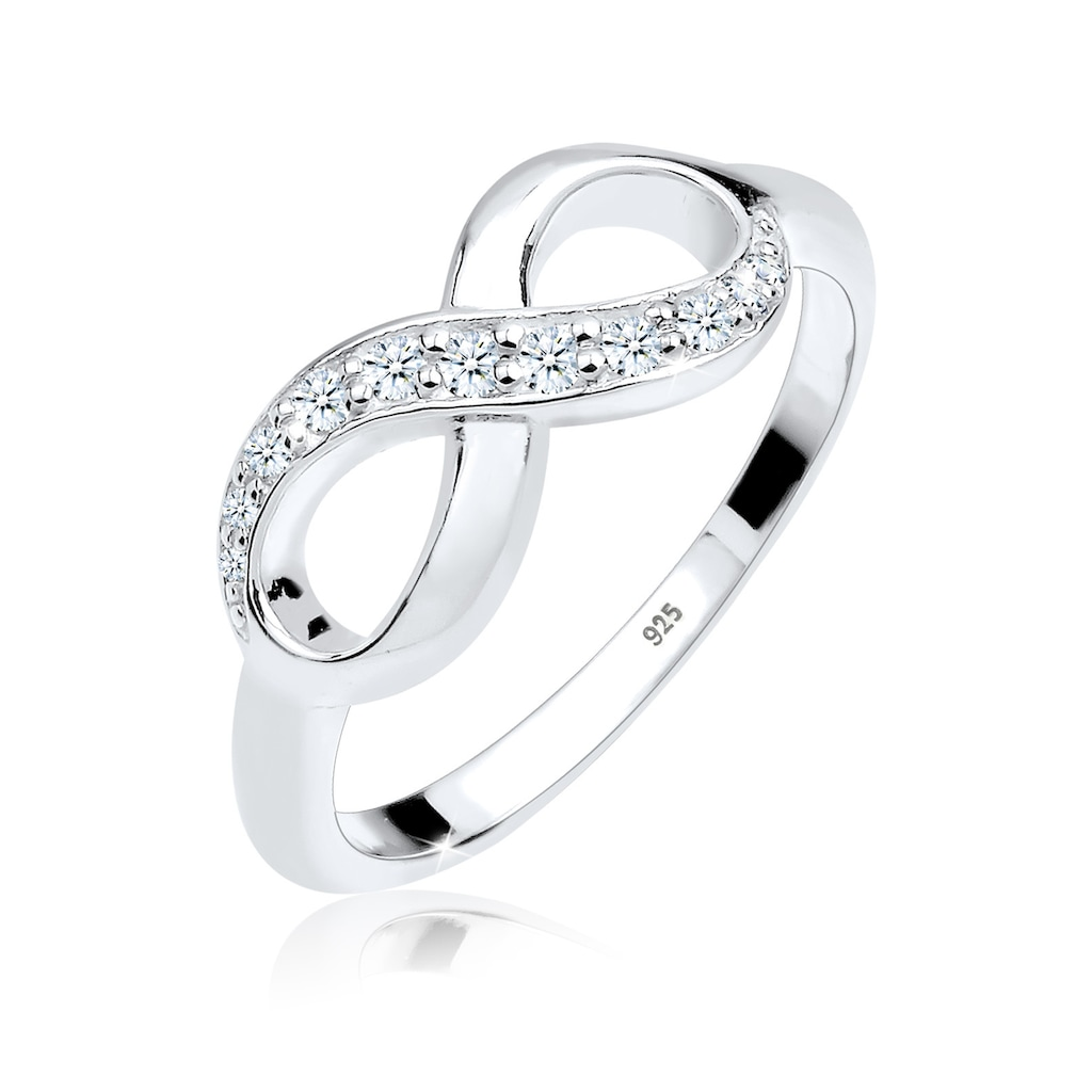 Diamore Verlobungsring »Infinity Diamant 0.125 ct. Geschenkidee 925 Silber«