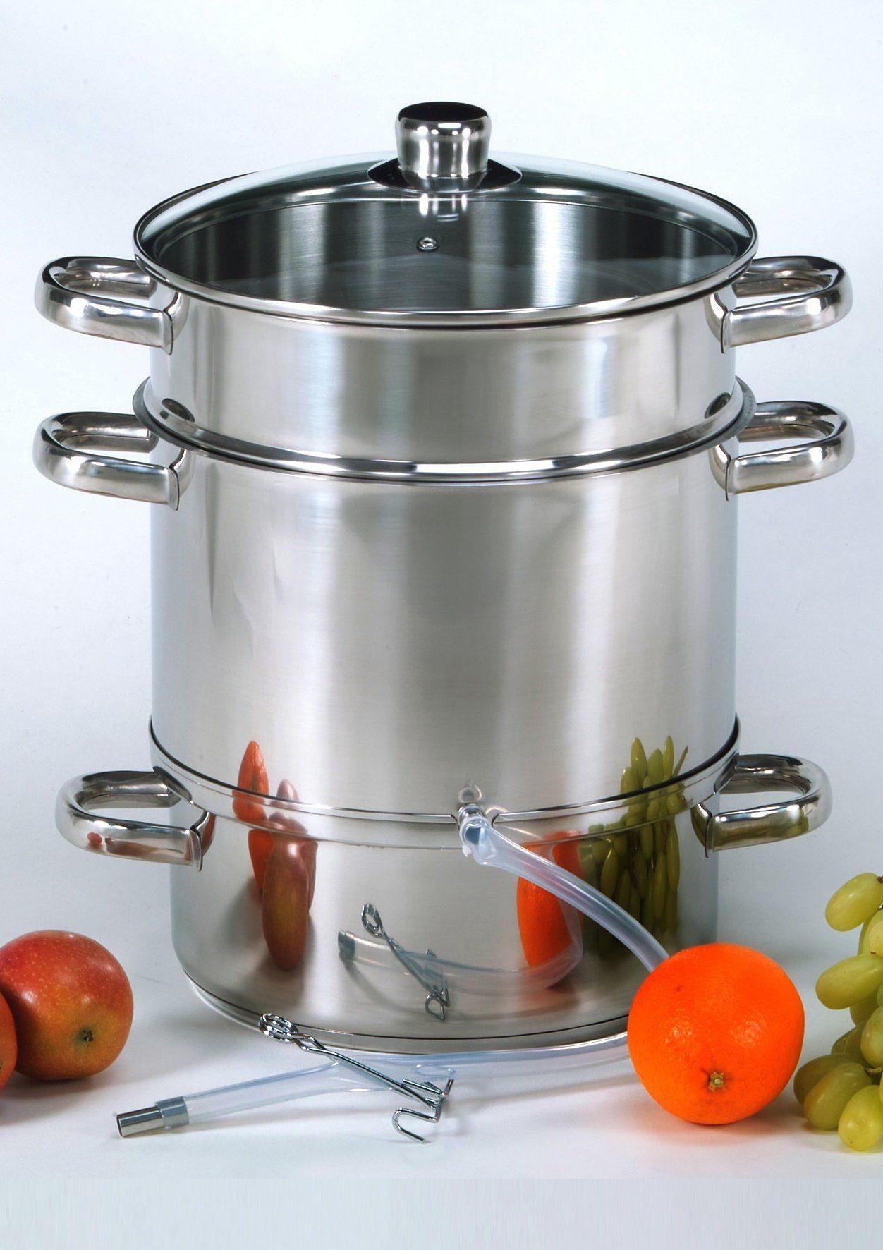 Krüger Einkochtopf, Edelstahl, Fruchtentsafter silberfarben Küchenkleingeräte SOFORT LIEFERBARE Haushaltsgeräte Einkochtopf