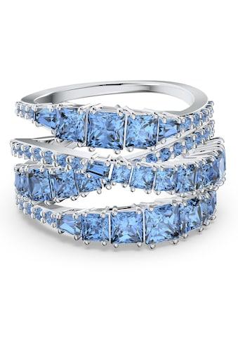 Swarovski Fingerring »Twist Wrap, blau, rhodiniert, 5582809, 5584649, 5584651, 5584655, 5584653« kaufen